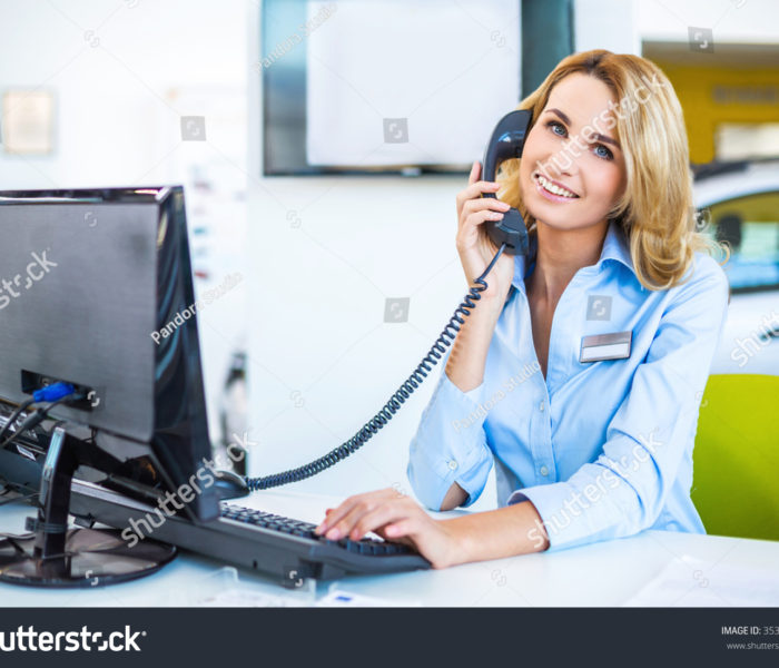 stock-photo-photo-of-young-beautiful-business-woman-in-car-showroom-young-business-woman-working-with-computer-353240381